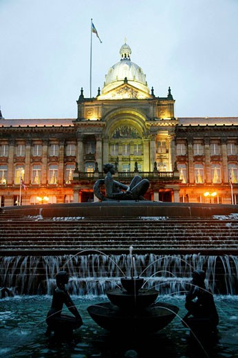 The Council House in Victoria Square, Birmingham, England, UK : Stock Photo