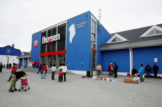 Stock Photo: 1566-503393 Street scene in Nuuk, Greenalnd