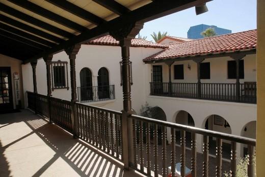 Heard Museum, Central Courtyard, Phoenix, Arizona, United States : Stock Photo