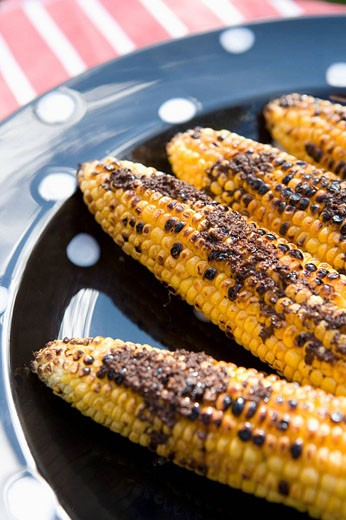 Barbequed Sweetcorn : Stock Photo
