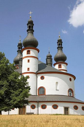 The pilgrimchurch of Kappl, near Waldsassen, Upper Palatinate, Bavaria, Germany : Stock Photo