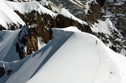 Mountaineering, Mont Blanc, Alps, Western Europe : Stock Photo