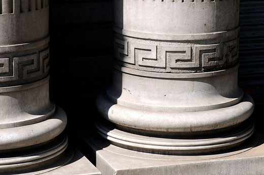 Detail of columns, Barcelona. Catalonia, Spain : Stock Photo
