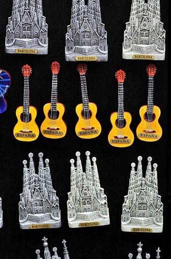 Stock Photo: 1566-507380 Souvenirs, Barcelona. Catalonia, Spain