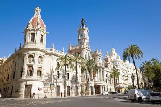 Stock Photo: 1566-507996 PLAZA DEL AYUNTAMIENTO  VALENCIA, SPAIN