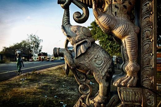 Stock Photo: 1566-508096 Sculpture, Mahabalipuram (Mamallapuram). Tamil Nadu, India