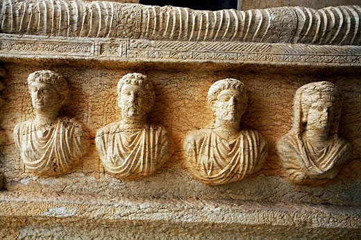 Stock Photo: 1566-508142 Archaeological museum, old Greco-Roman city of Palmyra, Syria