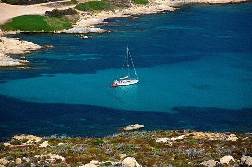 Stock Photo: 1566-508325 Gulf of La Revellata near Calvi. Corsica Island, France