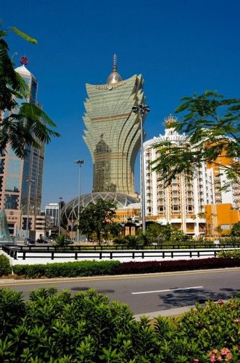 asia, china, Macau, Gran lisboa casino 2008 : Stock Photo