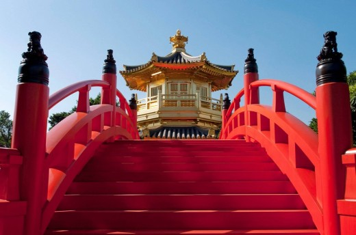 asia, china, hong kong, Chi lin nunnery pagoda 2008 : Stock Photo