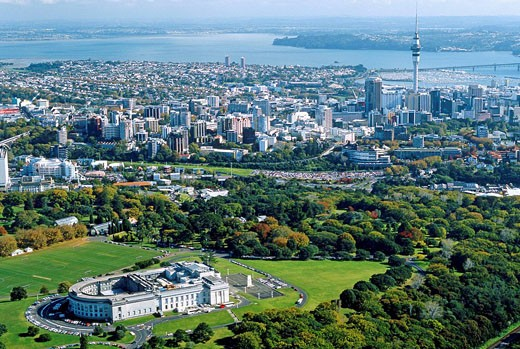 Auckland Domain and Museum New Zealand : Stock Photo
