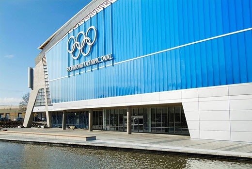 Stock Photo: 1566-511881 Richmond Olympic Oval, venue for speed skating for the 2010 Winter Games, Vancouver, BC, Canada