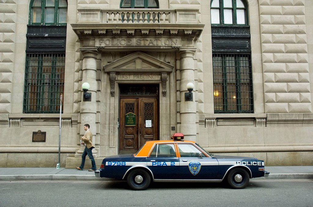 Stock Photo: 1566-513251 New York City Police Museum, First Precinct police station, first of the modern police stations in NY (1911), Old Slip and South street, Lower Manhattan, New York, USA, 2008