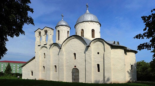 Church of Nativity of St. John (1247), Pskov, Pskov region, Russia : Stock Photo