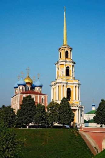 Dormition cathedral (1699), Ryazan Kremlin, Ryazan region, Russia : Stock Photo