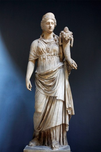 Fortune statue displayed in the Braccio Nuovo (New Wing) of Museo Chiaramonti, Vatican Museums, Rome, Italy : Stock Photo