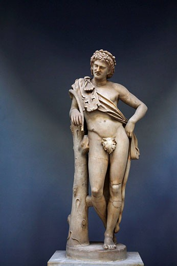 Stock Photo: 1566-513775 Resting Satyr statue, Vatican Museums, Rome, Italy