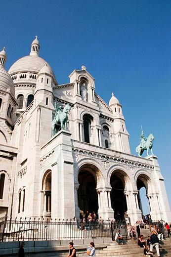 Stock Photo: 1566-513910 Staris view of Sacre Cor church in Paris