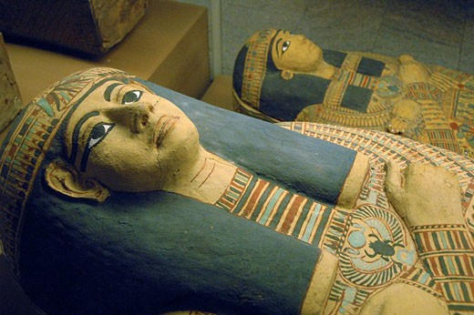 Egyptian sarcophaguses : Stock Photo