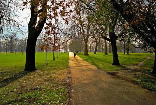 -Walking in Kengsinton Garden- London : Stock Photo
