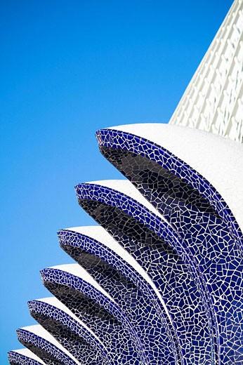 Vista parcial de L´Umbracle, Ciudad de las Artes y las Ciencias, Valencia. : Stock Photo