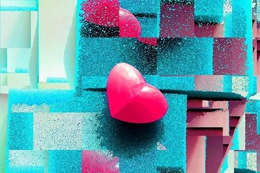 Stock Photo: 1566-516219 art, artwork, abstract, desig, heart, hearts, harmony, delicate, tone, pretty, horizontal, fine, cell, cells, detail, textil, emotion, valentine, mothers-day, pastel, collage, composition, weird, modern, creative, pastel, surreal, pink, unusual, odd, psyc