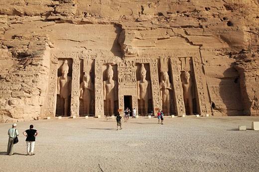Temple of Hathor, Abu Simbel, Egypt : Stock Photo