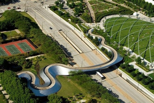 Stock Photo: 1566-516902 Millenium Park in Chicago by Frank Gehry, Illinois, USA, America