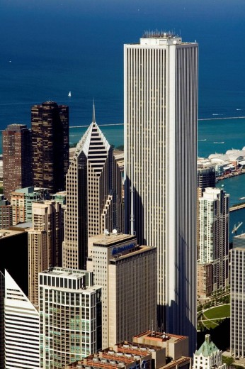 Stock Photo: 1566-516906 The Loop from Sears Tower, Chicago, Illinois, USA, America