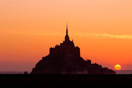 Mont-Saint-Michel, Normandy, France : Stock Photo