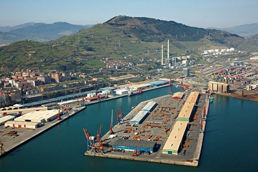 Port, Bilbao, Biscay, Basque Country, Spain : Stock Photo