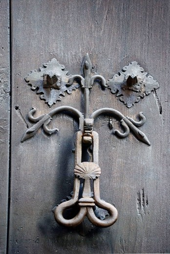 Doorknocker, Cáceres. Extremadura, Spain. : Stock Photo