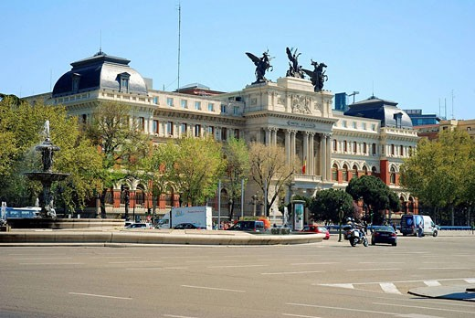 Ministry of Agriculture building, Madrid, Spain : Stock Photo