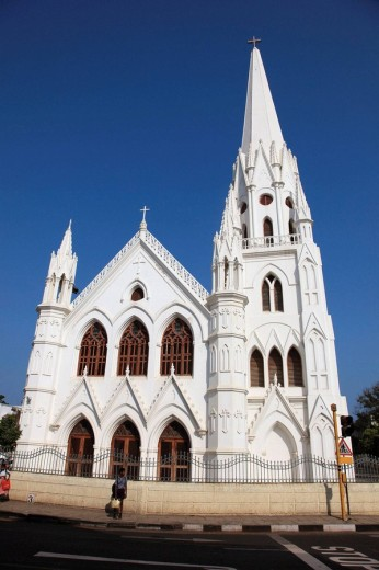 India, Tamil Nadu, Chennai, Madras, San Thome Basilica : Stock Photo