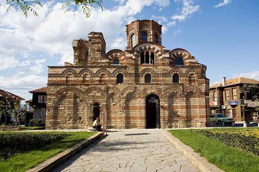 Stock Photo: 1566-518832 Church of Christ Pantocrator (14th century) in Nessebar, Black Sea coast. Bulgaria