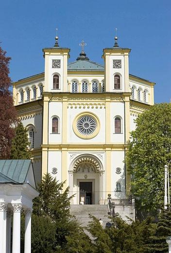 Stock Photo: 1566-518953 Marienbad_Tschechische Republik_ Dekanatskirche Maria Himmelfahrts Kirche_erbaut 1844 _ 1848