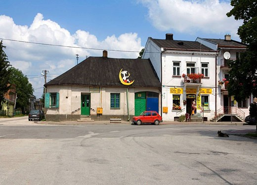 Pacanow, town of children's fictional comics character Billy-goat Koziolek Matolek : Stock Photo