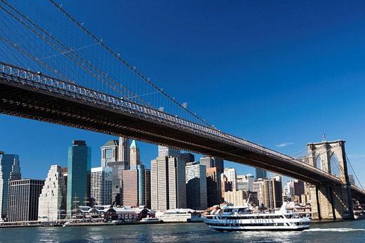 Brooklyn Bridge, New York City, USA : Stock Photo