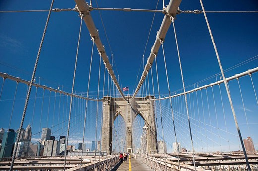 Brooklyn Bridge, New York City, USA : Stock Photo