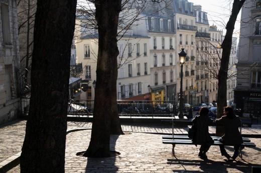 Street view of Montmartre, Paris. France : Stock Photo