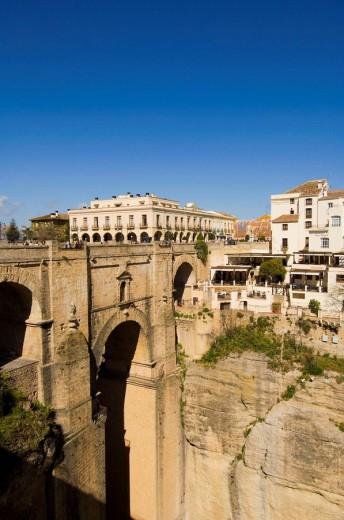New Bridge, Ronda. Malaga province, Andalusia, Spain : Stock Photo