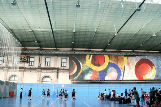 Stock Photo: 1566-523464 Basket match in Estacio del Nord sports pavillion, Barcelona. Catalonia, Spain