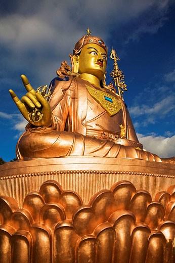 India, Sikkim, Namchi, Samdruptse, Padmasambhava Statue : Stock Photo