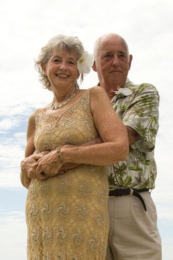 Stock Photo: 1566-524083 older bride and groom