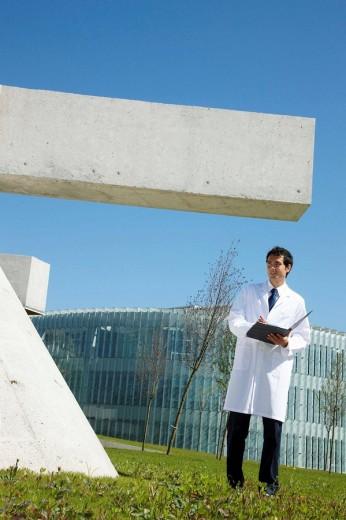 Researcher, Technology Park of Bizkaia, Zamudio, Basque Country, Spain : Stock Photo