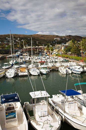 Port de Plaisance marina, Saint-Gilles-les-Bains, Reunion island, France : Stock Photo