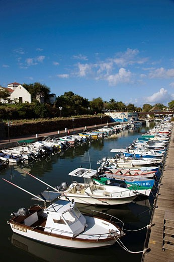 Port de Plaisance marina, Saint-Gilles-les-Bains, Reunion island, France : Stock Photo