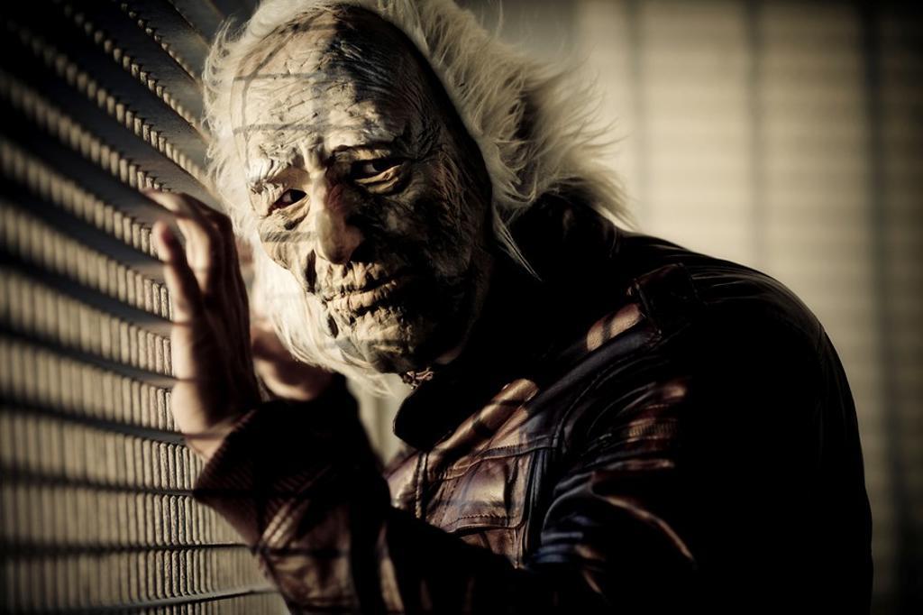 Man monstrous face  Mask  Crazy  Color : Stock Photo