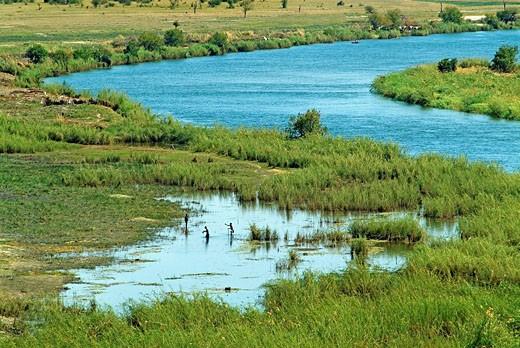Stock Photo: 1566-534449 Okavango River, Rundu, Caprivi Strip, Namibia