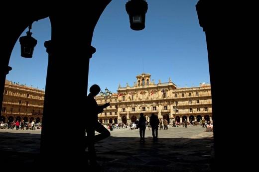 Stock Photo: 1566-535657 Main Square, Salamanca. Castilla-Leon, Spain